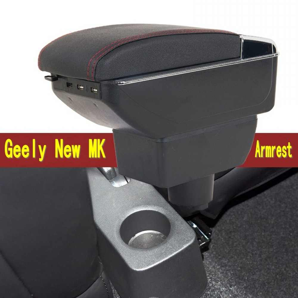 For New Geely MK armrest box gc6 armrest box central Store content Storage box New King kong armrest box with USB interface