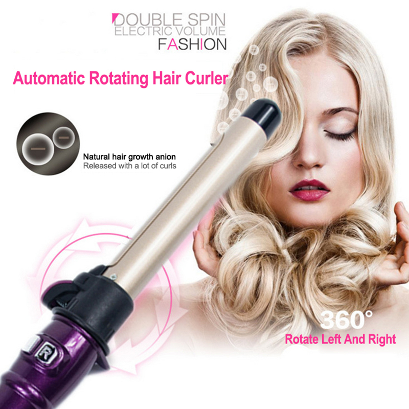 Automatic Hair Curler Rollers Titanium Curling Iron Professional Curling Wand Wave Hair Styling Tools with Long Cliper <font><b>25</b></font> mm image