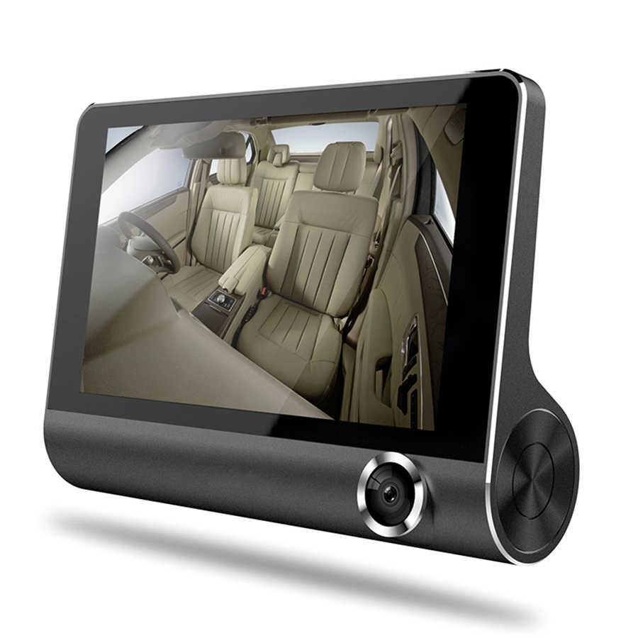 Car DVR 4.0 Inch 3 Cameras Lens Dash Camera Dual Lens With Rear View Video Recorder Auto Registrator Dvrs 3 Way Dash Cam