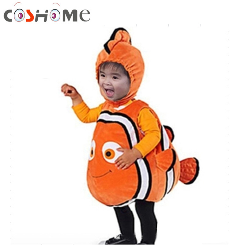 Halloween Kids Costume Clownfish Cosplay Pixar Animated Film Finding Nemo Little Baby Fishy Christmas Carnival Cosplay Clothes