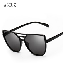 ASOUZ new fashion ladies sunglasses classic retro brand design oval men's glasses UV400 driving black sunshade sunglasses 2019 new fashion ladies oval sunglasses international classic brand design men s glasses uv400 retro driving sunglasses