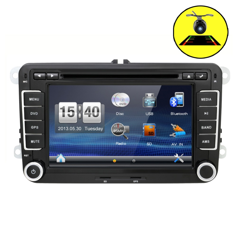2DIN 7inch car dvd player radio GPS for <font><b>VW</b></font> <font><b>GOLF</b></font> VI <font><b>GOLF</b></font> <font><b>V</b></font> POLO T5 SCIROCCO Dig touch steering wheel control,stereo,radio,usb,BT image