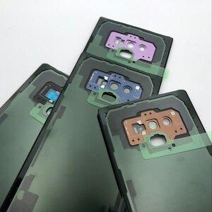 Image 2 - Note9 عودة الزجاج قطع غيار سامسونج غالاكسي ملاحظة 9 N960 N960F N960P SM N960F البطارية غطاء الباب الخلفي الإسكان حالة