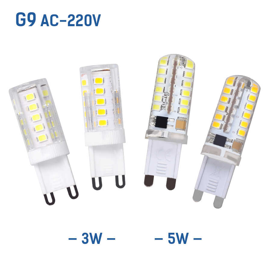 G49 AC220V 3W 5W Replace Halogen Lights Led G9 LED Corn Bulb Dimming Lighting SMD2835 LED Spotlights Chandelier Bombillas Bulb