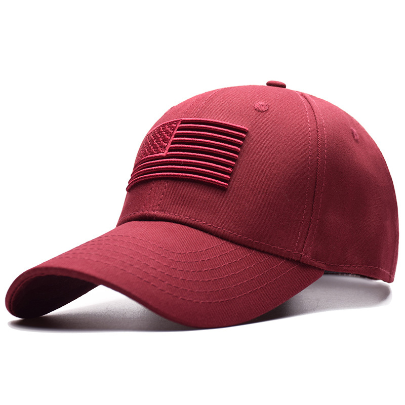 Fashion Unisex American Raised Flag Baseball Cap Women Men Soild Embroidered Snapback Caps Male Female Outdoor Sports Hat CP0261
