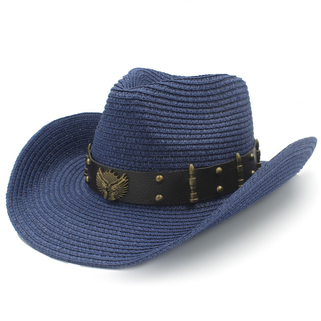Straw Women Men Western Cowboy Hats For Summer Gentleman Outdoor Summer  Sombrero Hombre Beach Sun Cap 3af93dc75b8a
