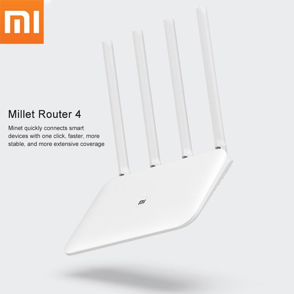 Оригинальный Xiaomi Mi Wi Fi роутер 4 ретранслятора 2,4G 5GHz 128MB беспроводные роутеры двухъядерный 880MHz приложение управление Xiaomi Mi Band 4