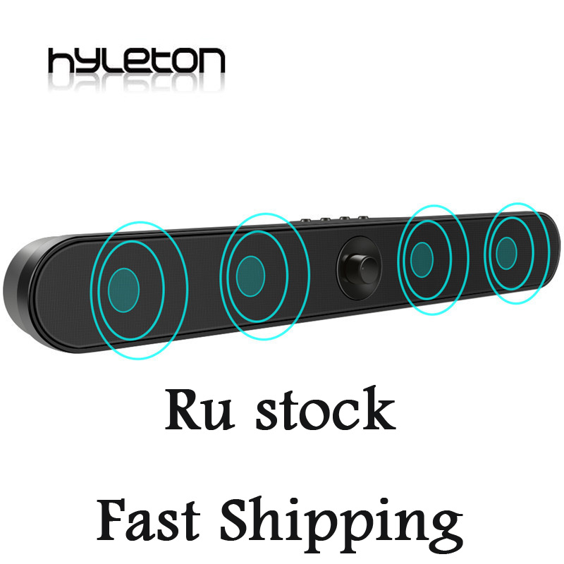 RU magazzino Hyleton LP-s11 Barra Audio 2.0 Canali altoparlante Bluetooth Soundbar 16 w wireless Surround Home Theater Audio TF AUX USB