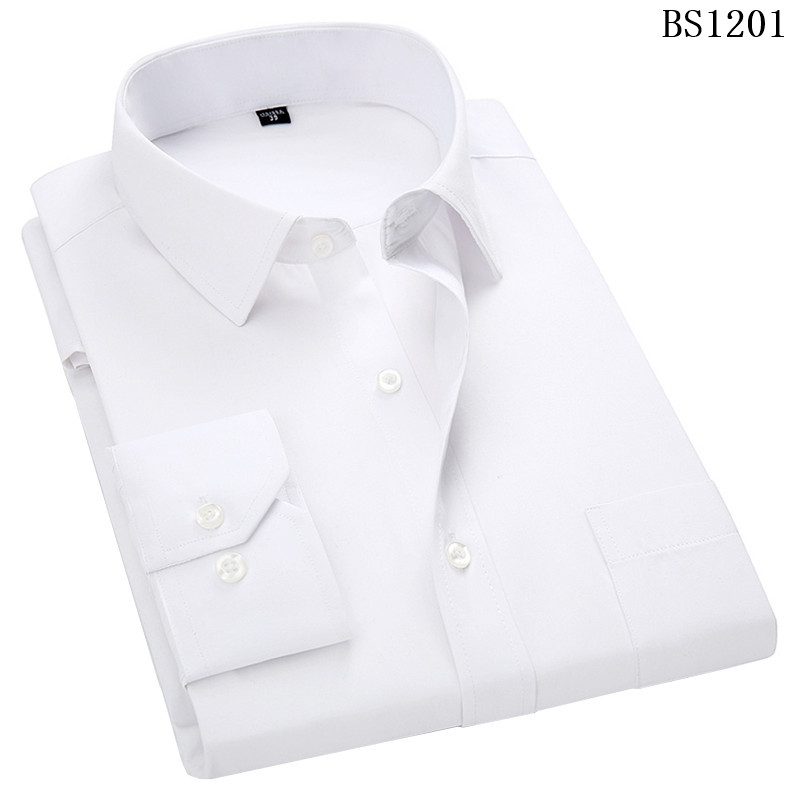 HTB1l9RCWgTqK1RjSZPhq6xfOFXaT - Plus Large Size 8XL 7XL 6XL 5XL 4XL Mens Business Casual Long Sleeved Shirt
