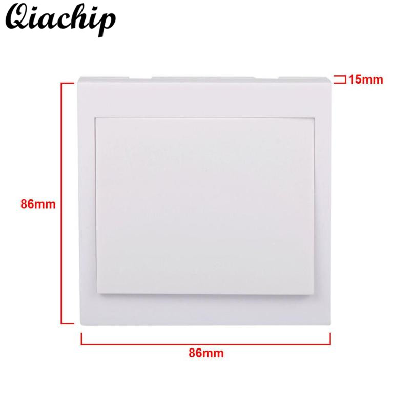 QIACHIP 86 Wall Panel Remote Control Switch 433MHz DC 12V 1CH Button Transmitter Living RF Remote For Smart Home Light LED Lamps mini stable 10a 220v 1ch rf remote control switch system for led bulb light strips receiver 86 wall panel transmitter