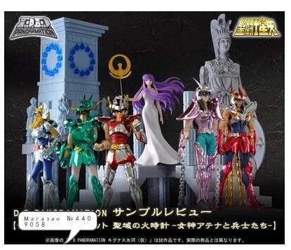 Original Bandai D.D.PANORAMATION scene saint seiya Gold myth cloth Shiryu Shun shaka Athena Seiya action figure Model 10CM