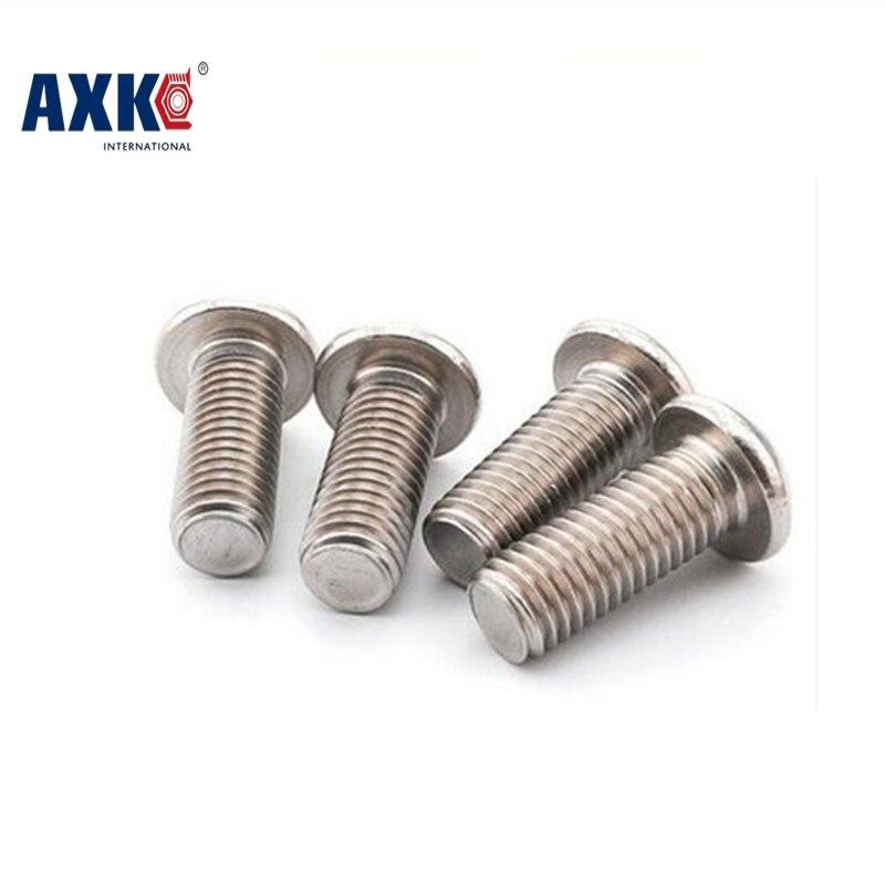 100pcs/Lot M2x6 mm M2*6 mm yuan cup Half round head 304 Stainless Steel Hex Socket Head Cap Screw Bolts