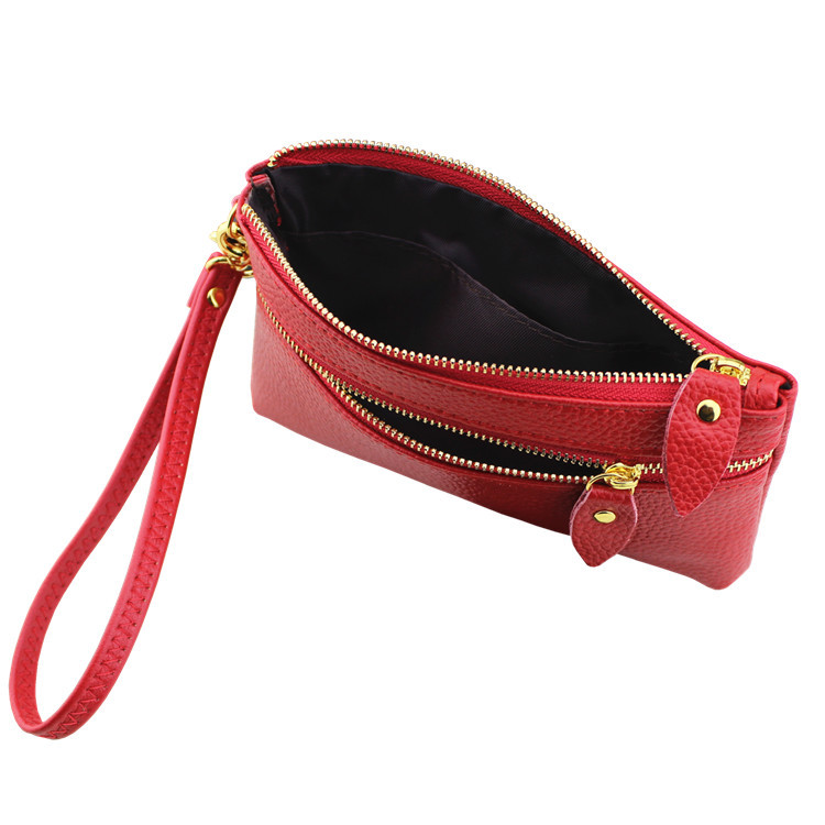 Fashion Women Genuine Leather Zipper Long Wallets Clutch Coin Purse Ladies phone Card Holder Wallet Purse Bag Clutches Bag