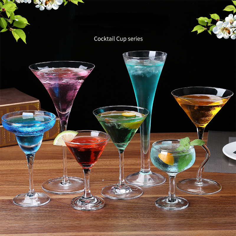 Hot Sale Crystal Martini Cocktail Cup Margaret Crystal Glass High-grade Champagne Drinkware Bar Party Wine Cup Free Shipping