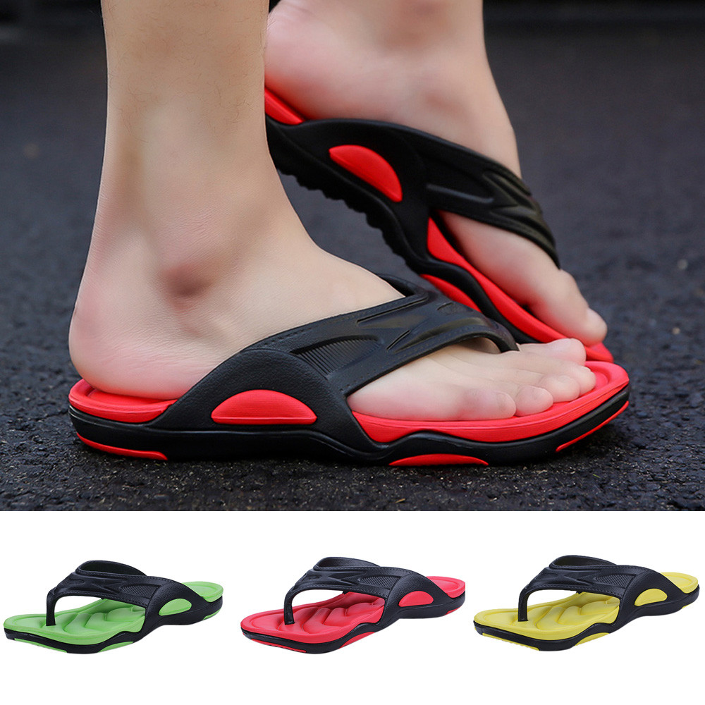 2018 New Arrival Slippers Summer Men Flip Flops Male Slippers Men Casual Shoes Fashion Non-slip Beach Sandals sapato masculino S
