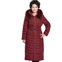 Plus Size XL-6XL Winter Jacket Women Ukraine Abrigos Mujer Middle-Aged Down Jacket Long Parka Thick Fur Collar Coat Parkas C2289