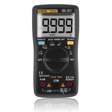 Professional Digital Multimeter AN8009 LCD Display Digital Multimeter 9999 Counts AC/DC Ammeter Voltmeter Ohm Meter Tester aneng an8009 auto range digital multimeter 9999 counts backlight ac dc ammeter voltmeter ohm transistor tester multi meter