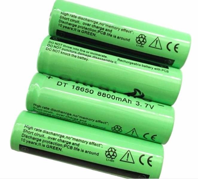 li-ion bateria de lítio 18650 bateria recarregável