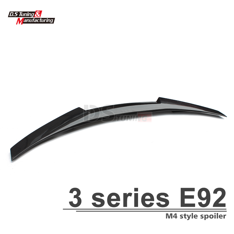 3 series e92 m4 style carbon fiber rear trunk wings spoiler for bmw 3 series e92 2006 - 2013 2-door coupe model 3 series e92 m4 style carbon fiber rear trunk wings spoiler for bmw 3 series e92 2006 2013 2 door coupe model