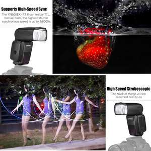 Image 5 - YONGNUO YN600EX RT II TTL Master Flash Speedlite for Canon Camera 2.4G Wireless 1/8000s HSS GN60 Support Auto/ Manual Zooming