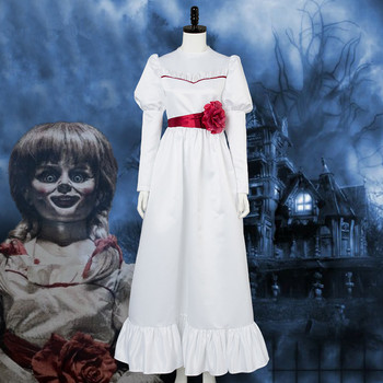Movie Annabelle Comes Home Cosplay Costume Kids girls Annabelle Bee Mullins dress Halloween Women party dress Costumes