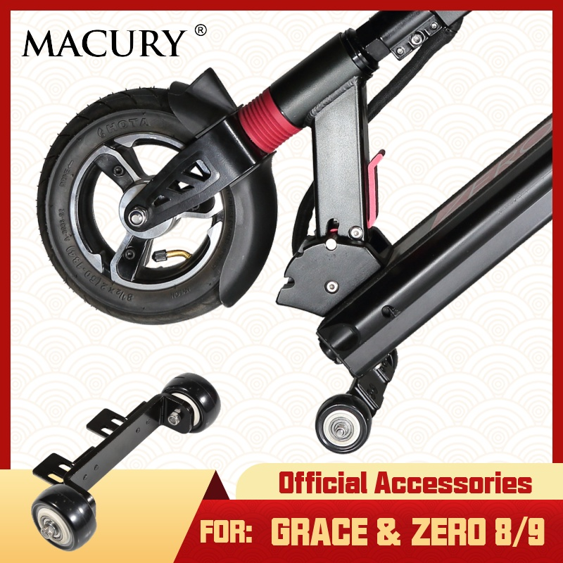 Front Trolley Wheel for Grace 8 9 Zero 8 9 Electric Scooter to Roll Scooter When you are walking|Scooter Parts & Accessories| - AliExpress