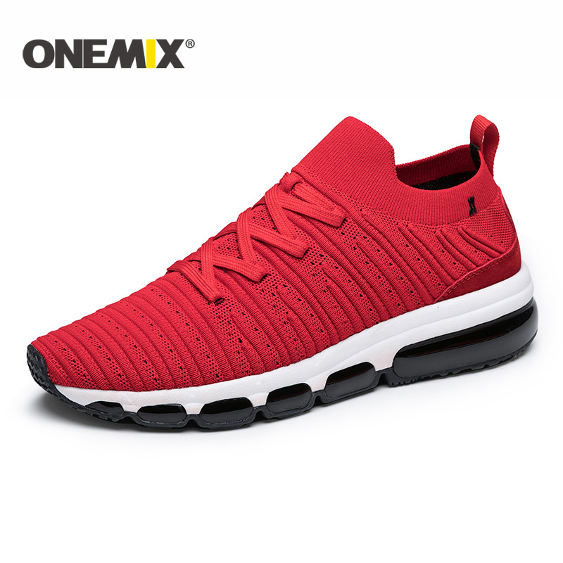 ONEMIX 2018 running shoes men Air cushion running shoes breathable sports shoes outdoor walking shoes men or women size 36-47 women sneakers men running winter thermal shoes ultra light damping air sole walking outdoor training sports shoes plus 36 45