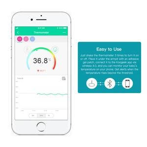 Image 4 - Koogeek Tragbare Intelligente Baby Thermometer Berufs Drahtlose 4,0 Überwachung ohne Zu Stören Baby 10 Klebstoff Patche Enthalten