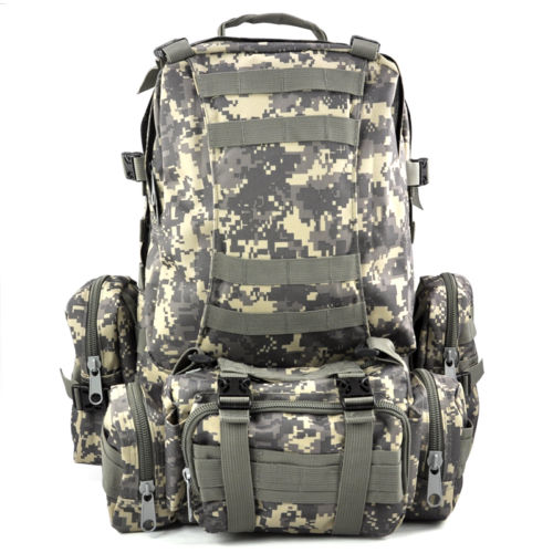 New 50L Molle Assault Military Rucksacks Backpack Camera Bag Large Wholesale