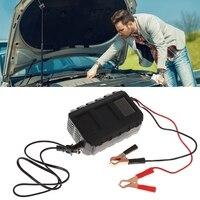 Inteligente 20a automóvel bateria chumbo ácido carregador de bateria carro motocicleta ue