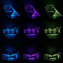3D Lamp Game Of Thrones Mother Dragon Night Bedroom Decoration Child Boy Birthday Gift Desk Kids Led Lights