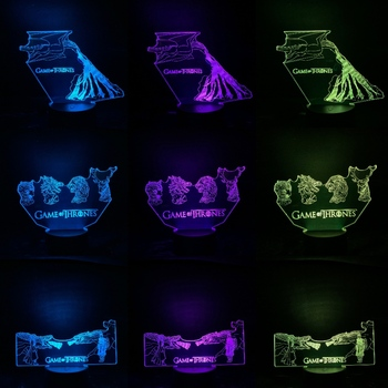 3D Lamp Game Of Thrones Mother Of Dragon Night Lamp Bedroom Decoration Child Boy Birthday Gift Desk Kids Led Night Lights vonnegut kurt mother night