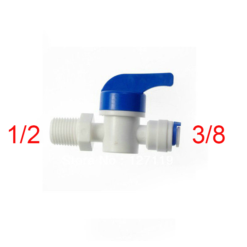 2 Pcs 1/2Male-3/8 Tube Ball Valve Swicth RO Wate RO Water ST025E