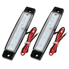 12V luces automáticas fuente de luz externa 1 par Super brillante 12 SMD luces LED de freno luces de señal de giro de coche indicadores de giro de camión