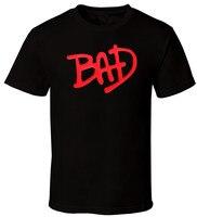Fashion Men S T Shirts BAD MJ Michael Jackson Kendrick Rocky Music Hip Hop Fashion Logo