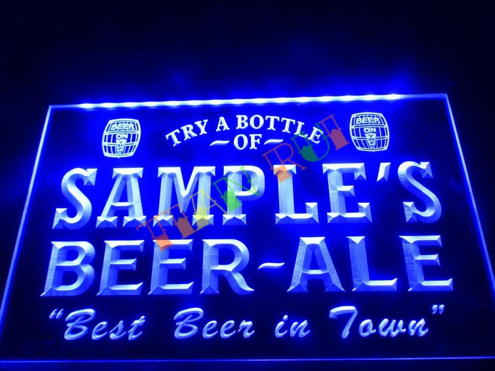 DZ015 Name Personalized Custom Best Beer Ale Home Bar Pub