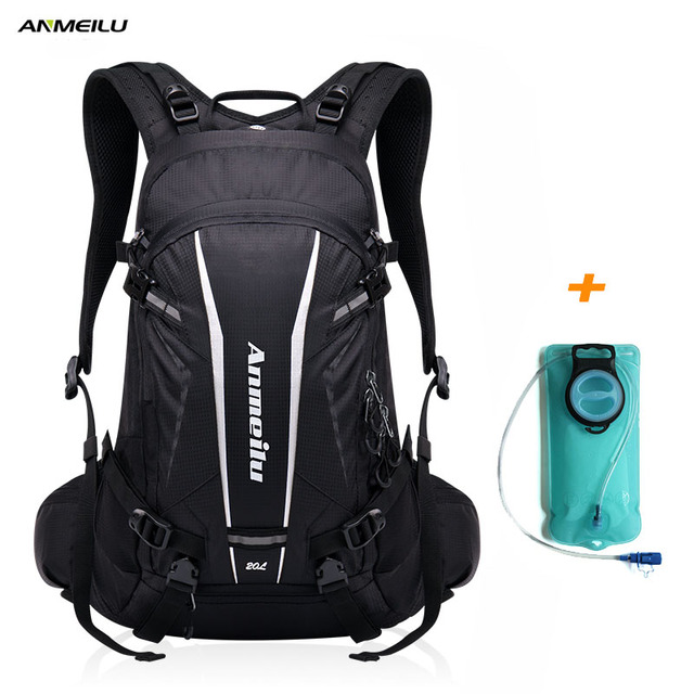 ANMEILU 2L Water Bag 20L Camping Backpack Waterproof Sport Ruchsack Hiking Climbing Cycling Hydration Backpack Water Bladder Bag