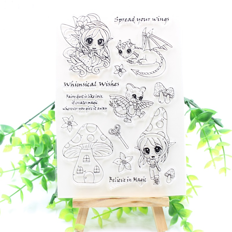 YPP CRAFT Whimsical Wishes Transparent Clear Silicone Stamps for DIY Scrapbooking/Card Making/Kids Fun Decoration Supplies