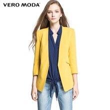 [$30-$15] [$60-$30] VERO MODA женские тонкий конфеты-цвет блейзер женский женские куртки рабочая одежда сплошной элегантный костюм однобортное  пальто бизнес 314308045