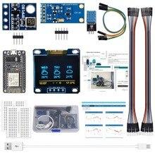 ESP8266 Погодная станция комплект с Температура влажности atmosphetic Давление светильник Сенсор 0,96 Дисплей для Arduino IDE/SATA IoT стартер