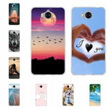 For Huawei Y5 2017 / Y6 MYA-L03 Cover TPU III 3 Case Dog Pattern Honor 6 Play Nova Young Capa
