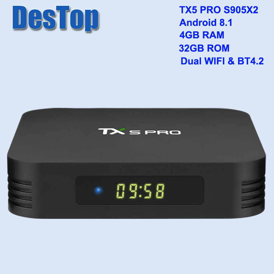Tanix TX5 Pro Android 8.1 TV Box 4GB + 32GB S905X2 H.265 8K 60fps HDMI zestaw Top odtwarzacz multimedialny Box w Dekodery STB od Elektronika użytkowa na  Grupa 1