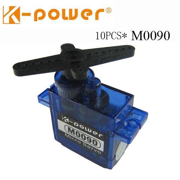 10 pièces k-power M0090 1.9 KG/9G micro servo analogique à engrenages métalliques pour robot de voiture modèle rc