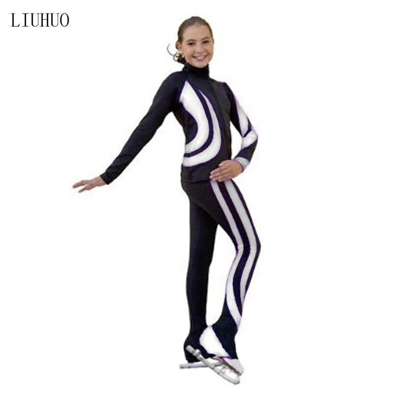 Image 3 - 4 Colors Costume Customized Ice Skating Figure Skating Suit Jacket And Pants Rolling Warm Fleece Adult Child Girl trousers l-in Ballroom from Novelty & Special Use