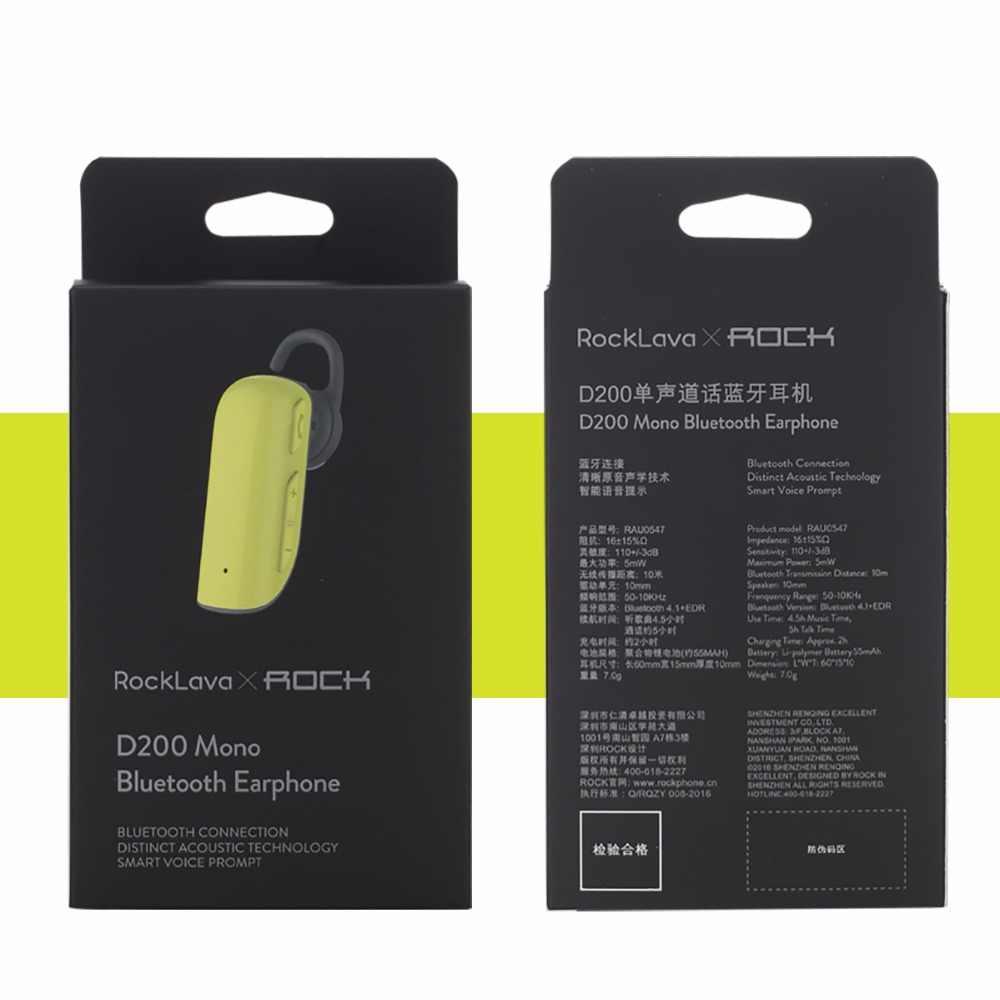 ロックワイヤレス Bluetooth ヘッド 4.1 ヘッドセット D200 ノイズキャンセリングヘッドフォンクリアランス 70% オフ