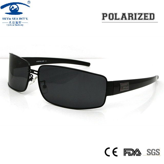 1040d87a21 Mens Polarized Sunglasses Pilot Sun Glasses for Men UV Protection Sun Eye  Glasses for Male Brand Design with Logo