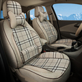 Car Cover Set for Toyota Venza Seat Covers & Supports Linen Cloth Cover Seats Protector Interior Accessories Full Set Car Seats
