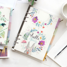 A5 A6 6 Holes Colored Notebook Loose Leaf Transparent PP Separator Pages Notebook Paper Inside Pages ezone 5 sheets a6 6 holes notebook s index page paper separator page loose leaf book category page planner stationery papelaria