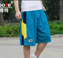 NEW2017 Outdoor Summer KD Durant Loose Training Basketball Shorts men jogger sport Elastic waist fitness Gym Running Short L-3XL
