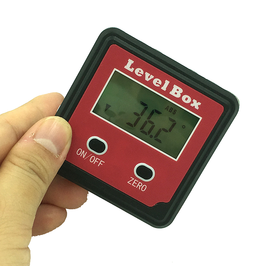 360 Degree protractor angle finder level box digital inclinometer angle measuring tool with magnetic base Portable lixf dxl360s digital lcd protractor inclinometer single dual axis level box 0 01 degree